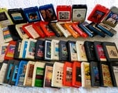 Vintage Lot 8 Track Player with 8 Track Tapes