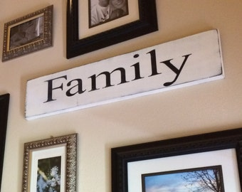 Family Wooden Sign