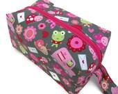 Knitting Project Bag - Small, Zippered Box Bag, Love Letters, Zippered Project Bag, Knitting Bag, Crochet Bag, Spindle Bag