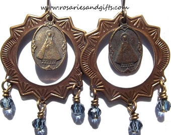 Our Lady of the Valley Catholic Earrings Jewelry Heirloom Confirmation Gift