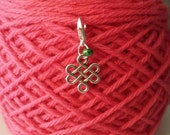 Celtic Knot Knitting Stitch Marker-Project Bag Zipper Charm-Purse Charm -Cell Phone Charm-Progress Keeper-Celtic Knot