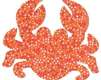 Crab iron on fabric applique DIY