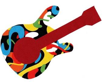 Guitar applique iron on DIY