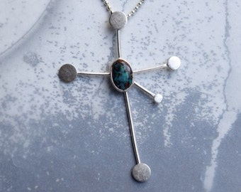 Southern Cross Constellation and Australian Opal Necklace