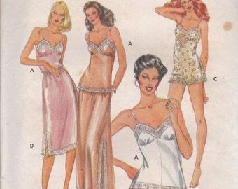Lingerie Wardrobe Pattern Butterick 4020 Size 12 Uncut