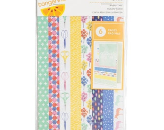 Amy Tangerine Finders Keepers Washi Tape Strips 48 Pieces for Scrapbooks, Journals, Cards, Planners and More