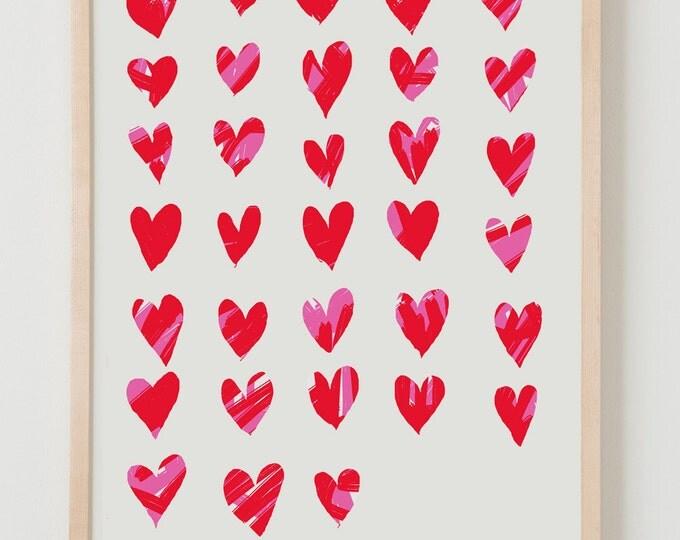 Fine Art Print. Hearts. February 13, 2012.