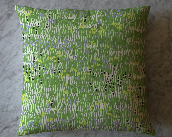 Pillow with Wildflowers, April 10, 2014