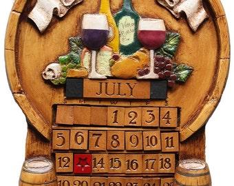Wine Perpetual Custom Calendar