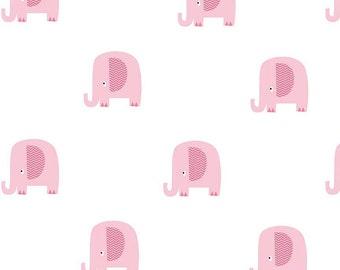 Pink Elephant Double Gauze