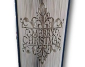 Merry Christmas, Christmas, Book Fold Art Pattern - Cut and Fold 575 pgs 20 cm