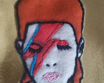Bowie Felt Brooch