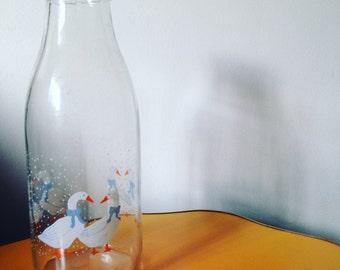 Vintage Christmas Goose Bottle