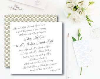 Williamsburg Wedding Invitations