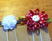 Set of 2 bookmarks-planner clips FLOWERS