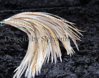 Light Natural Feather Earrings