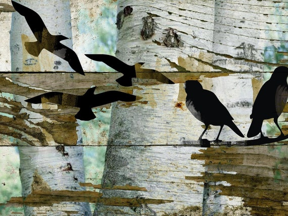 "Birds on birch II. Canvas Print by Irena Orlov 20X16"""