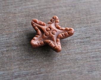 Goldstone Stone Starfish Figurine F43
