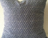 Single Pillow Cover 18x18 inch-Free US Shipping - Robert Allen Hand Motif in Ultramarine