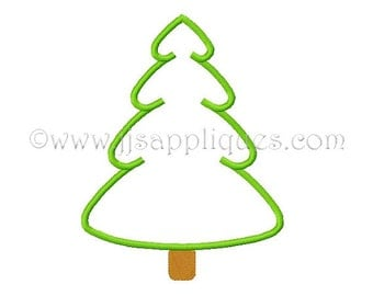 Tree Embroidery Applique Designs Christmas Tree Applique Design Pine Tree Applique 4x4, 5x7, 6x10 hoop sizes Instant Download