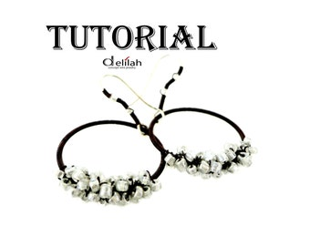 Circle Earrings Wire Wrapped Jewelry Tutorial Loop Earrings Tutorial PDF Pattern Wired Tutorial LoopJewelry Tutorial Wrapped Earrings