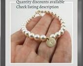 Swarovski Bracelet for Bridesmaids Pearl Bracelet Bridesmaids Gift Mother of the Bride Jewelry Maid of Honor Bracelet