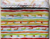 Flannel Baby Blanket - Receiving Blanket - Cot Bedding - Catapiller Baby Blanket - Crib Blanket - Toddler Blanket - Gender Neutral Bedding