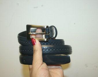 Skinny leather Belt leather belt,large belt,navy blue belt,dark blue belt,navy belt,thin belt,skinny belt,dress belt,high waist belt