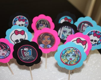 Monster High Cupcake Toppers (12)