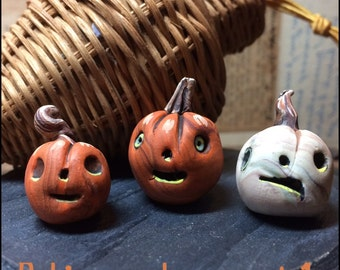 Polymer Clay Art Pumpkins Miniature