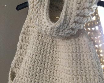 Handmade Crochet Vest in Off White