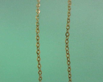 Ladies Estate Vintage 18 Inches-Pure 14kt Yellow Gold Chain Necklace, Italy