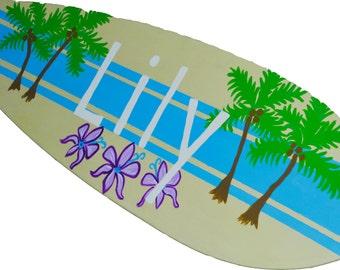 Bat Mitzvah Sign, Personalized Surfboard Art, Bat Miztvah Decor,  Lily