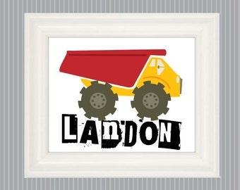 DumpTruck Poster, Big Truck Art, Truck Decor, Dump Truck Print, Truck Nursery, Loader Truck, Truck Room Decor, Dump Truck Sign