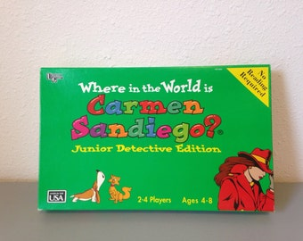 Vintage Game, Where in the World is Carmen San Diego?, Carmen Sandiego Board Game