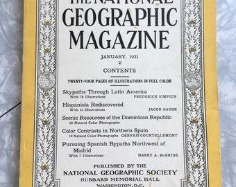 January 1931. Vintage Magazine, National Geographic, Vintage Photography, Vintage Photos