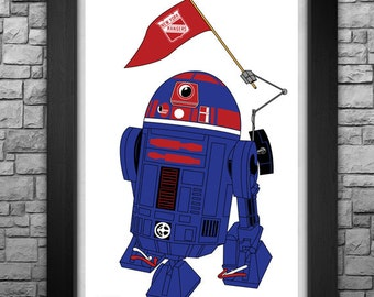 "R2-D2 ""New York Rangers"" inspired limited edition art print. Available in 3 sizes!"