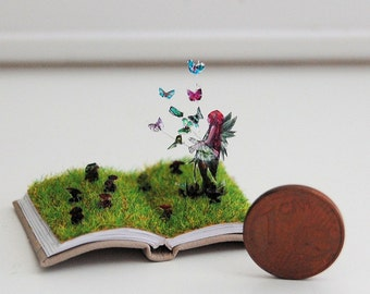 Miniature book sculpture Fairy