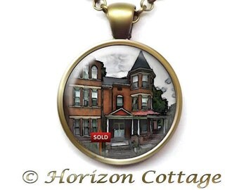 Realtor Jewelry, Realtor Necklace, Realtor Sold Pendant, House Sold Jewelry, Home Sale Gift, Real Estate Agent, Realtor Gift, New Home Owner