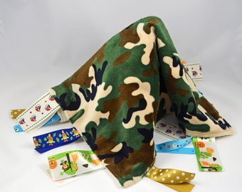 Baby Security Blanket - Camo blanket for baby  girl or boy!