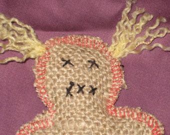 Pocket Voodoo Doll with pony tails