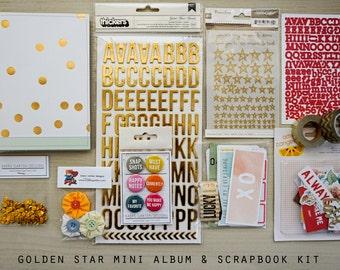 Golden Star Mini Album / Journal and Scrapbook Kit