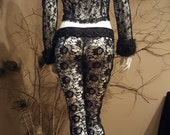 Reserved for Rob***Black lace jacket with faux fur collar and cuff.