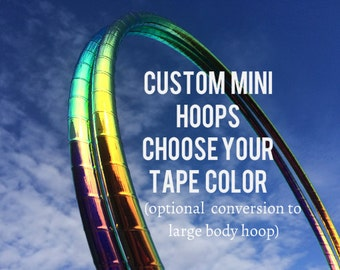 DECO MINIS - Poi Hoops - Any Combination Dance & Exercise Hula Hoop COLLAPSIBLE Push Button or solid