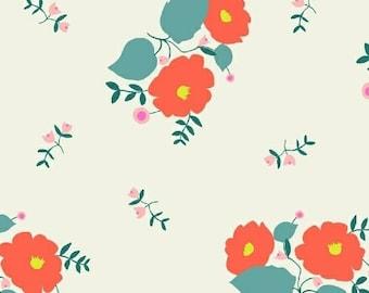 Large Floral (White) - Maribel - Annabel Wrigley - Windham Fabrics - 1 Yard