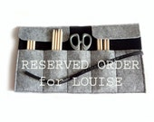 Two Roll felt pencil case black and grey