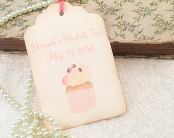 Bridal Tea Shower Party Thank You Tags-Floral Gift and Favor Tags-Wedding and Baby Shower Favor Tags--Set of 12