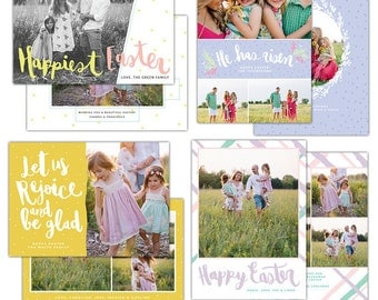 INSTANT DOWNLOAD -  Easter photo cards bundle | Be glad - E1263