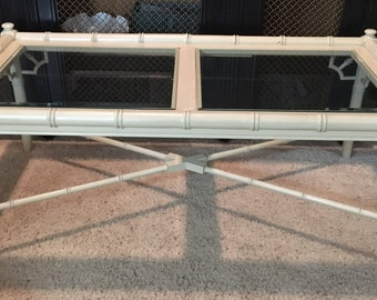 Faux Bamboo coffee table-Thomasville-Allegro-Local Pick up