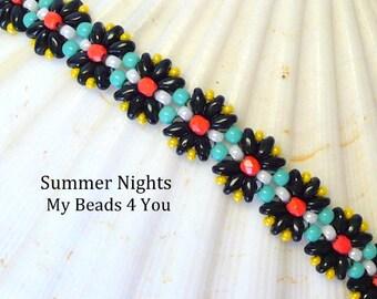 Beadwoven Bracelet, Beaded Bracelet, Seed Bead Bracelet, Beaded Bead, Beadwork, Beaded Jewelry, Embellished Bracelet,Pattern,Superduo Beaded